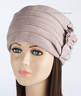 Теплая зимняя шапка Kartazon-09 пудра