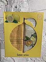 Набор кухонных полотенец nilteks вафельное lemon series 40*60 2 шт #S/H