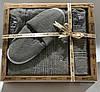 Мужской комплект для бани swan (юбка, полотенце 50*90, тапочки) серый #S/H