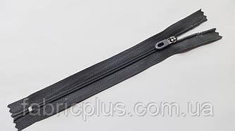Молния карманная С-3 серая 18 см