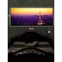 Световая картина настенная с Led-подсветкой IdeaX Ах, Шарман 29х69 см