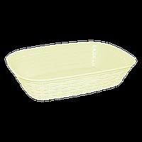 Хлебная корзина под ротанг желтая