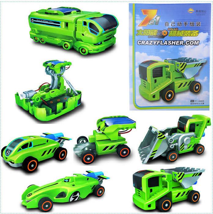 Конструктор на сонячній батареї Oxford 7 в 1 Автомобілі / Игрушка на солнечной батарее Оксфорд 7в1 Автомобили