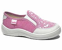 Сліпони WALDI арт.232-495 Віка, білий носок, рожеві, 30, 19.0