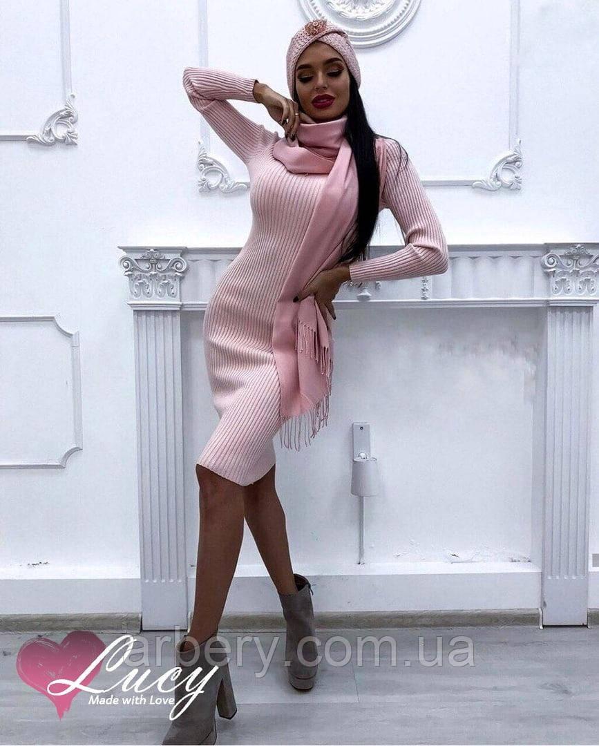 Женское приталенное стильное платье, фото 1