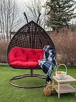 Двухместное подвесное кресло кокон Дабл Премиум качели садовые