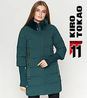 11 Kiro Tokao | Женская куртка с мехом 1719 зеленая