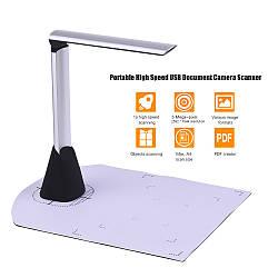 А4 5Мп USB Сканер камера для документов, книг, паспортов, ID-карт и тп. Портативный высокоскоростной сканер
