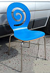 Стул Лев синий, гнутая фанера, фото 4