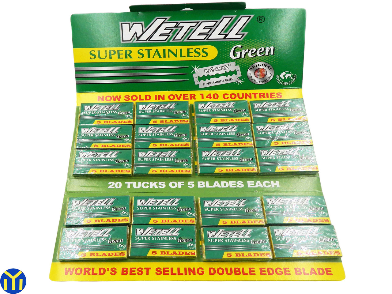 Лезвия Wetell, Super Stainless, Green