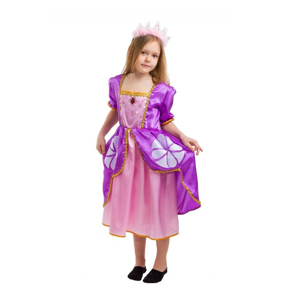 Детский карнавальный костюм принцессы Софии на утренник маскарад
