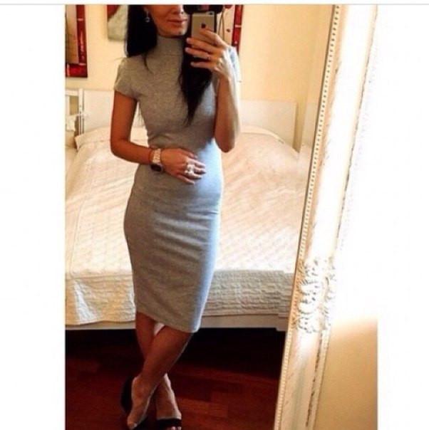 Платье-гольф мини футляр с коротким рукавом, 3 цвета (40-46)