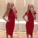 Платье-гольф мини футляр с коротким рукавом, 3 цвета (40-46), фото 3