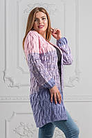 Очень красивый и теплый женский вязаный кардиган 48-54р.(4расцв), фото 1
