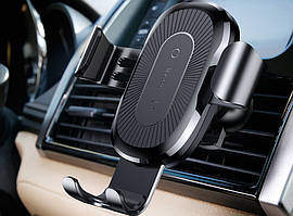 Автодержатель-зарядка Baseus Wireless Charger Gravity Car Mount black WXYL-01
