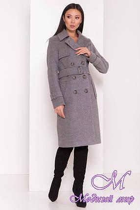 Осеннее женское пальто удлиненное (р. S, M, L) арт. М-80-87/44029, фото 2