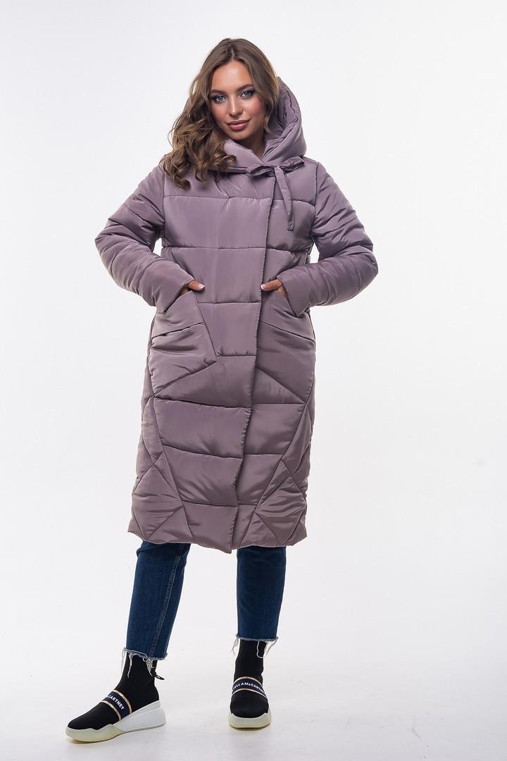 Модная зимняя женская куртка-одеяло с капюшоном
