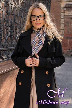 Черное кашемировое пальто женское (р. S, M, L) арт. М-79-47/43907, фото 2