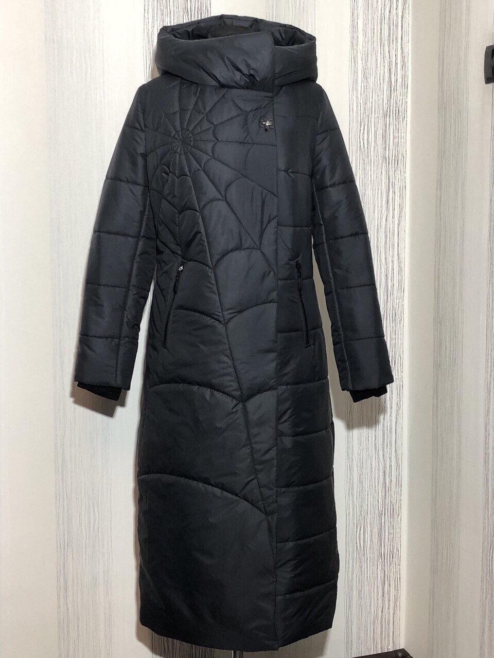 Женское демисезонное очень теплое плащевое пальто, размеры 44-50