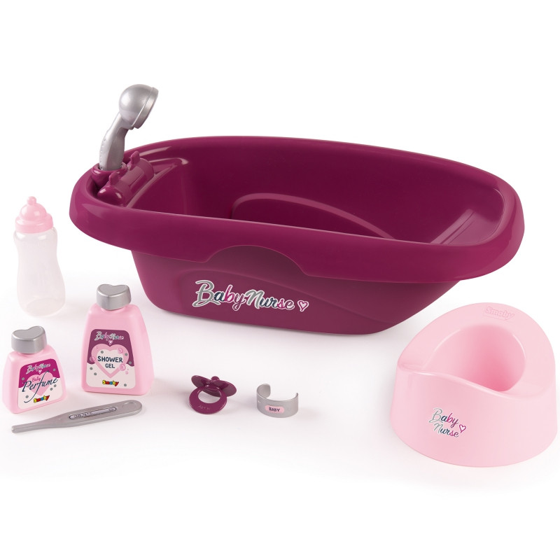 Ванночка для куклы с аксессуарами Baby Nurse Smoby 220340