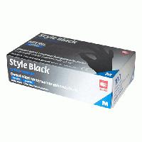 Рукавички нітрилові Style Black чорні 100 шт XS