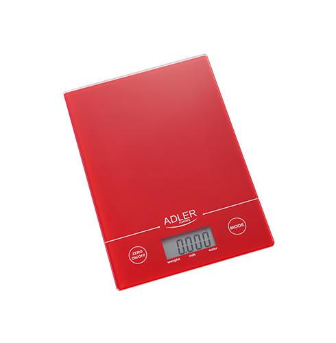 Электронные весы Adler AD 3138 кухонные Красный