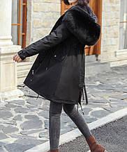 Куртка парка зимняя женская (черная)