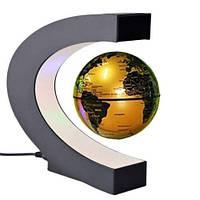 Антигравитационный глобус левитрон Globe Золото