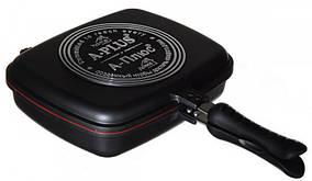 Сковорода-гиль A-PLUS FP-1500 двойная двухсторонняя для гриля и жарки 30 см