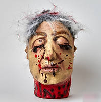 Хэллоуин! Аксессуар для праздника Голова женская 25-17 см, Муляж