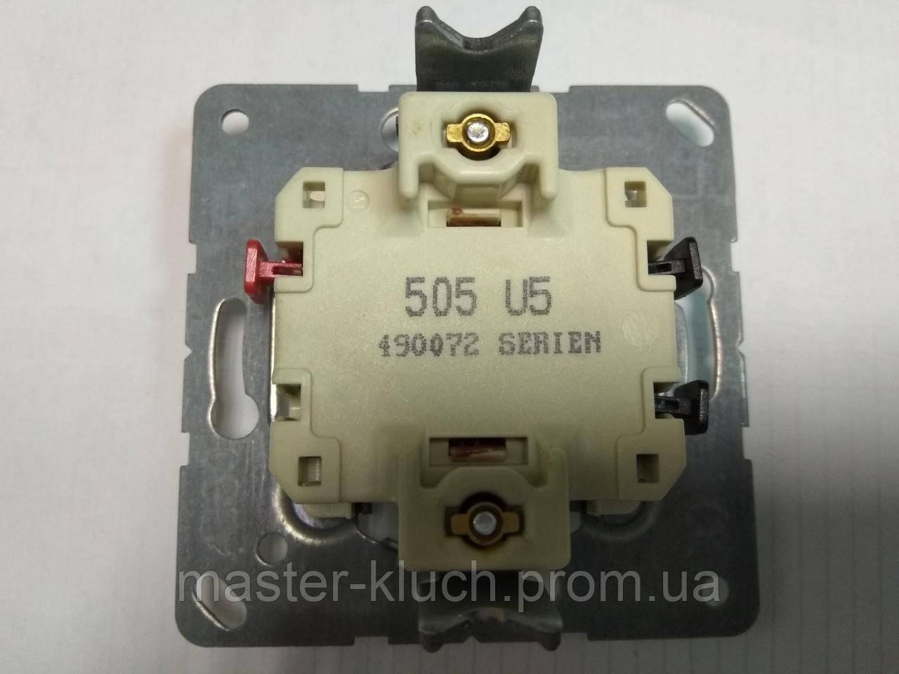 Выключатель двухклавишный с подсветкой Jung 505 U5 механизм