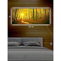 Светодиодная картина с Led-подсветкой IdeaX Брянский лес 29х69 см