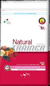 Сухий корм Trainer Natural корм для щенят середніх порід з куркою та індичкою 12 КГ