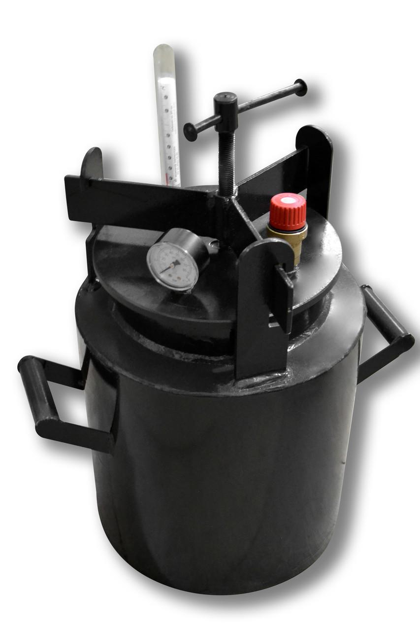 Недорогой автоклав бытовой Че8 (черная сталь / 8 банок 0,5)
