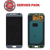 Дисплей + сенсор Samsung J530 2017 J5 PRO  Серебристый Оригинал 100% SERVICE PACK GH97-20738B