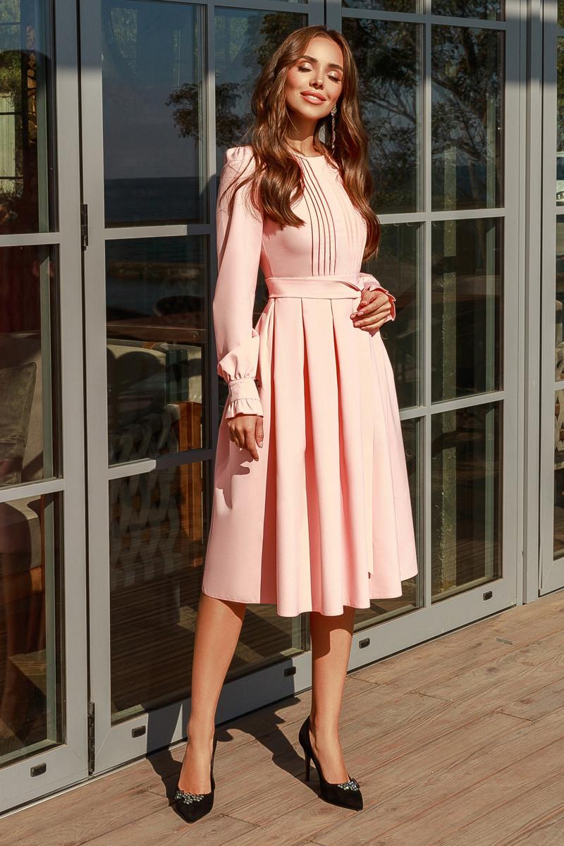 Женское платье Персиковый