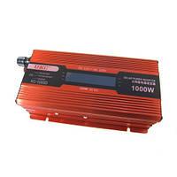Инвертор 12V-220V преобразователь UKC авто 1000W LCD KC-1000D