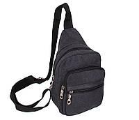 Сумка мини-рюкзак мужская Nobol 011BLACK Черная