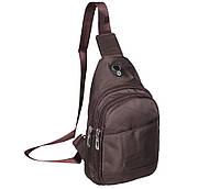 Сумка мини-рюкзак мужская Nobol 6070-132Coffee Коричневая