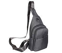 Сумка мини-рюкзак мужская Nobol 6070-233Grey Серая