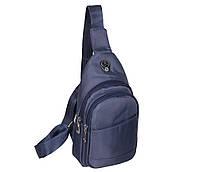 Сумка мини-рюкзак мужская Nobol 6070-325Blue Синяя