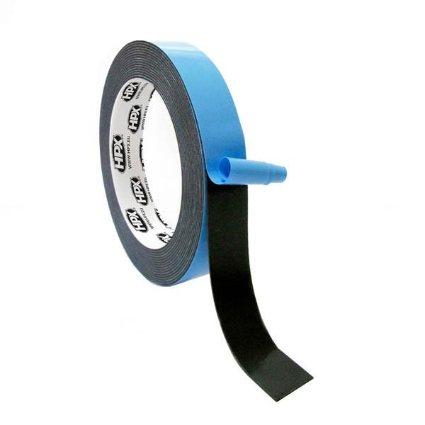 HPX 21386  - двухсторонняя клейкая лента (скотч) HPX - черная - 9мм x 66м