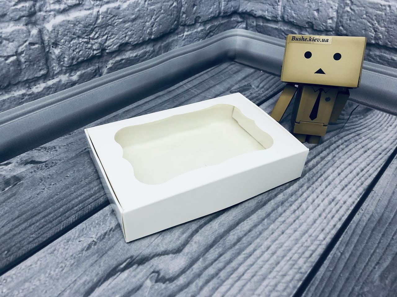 *10 шт* / Коробка для пряников / 100х150х30 мм / Белая / окно-обычн