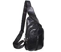 Сумка мини-рюкзак мужская Dovhani IT101888Black Черная