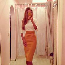 Трикотажне жіноче плаття футляр, офісного стилю (48-52)
