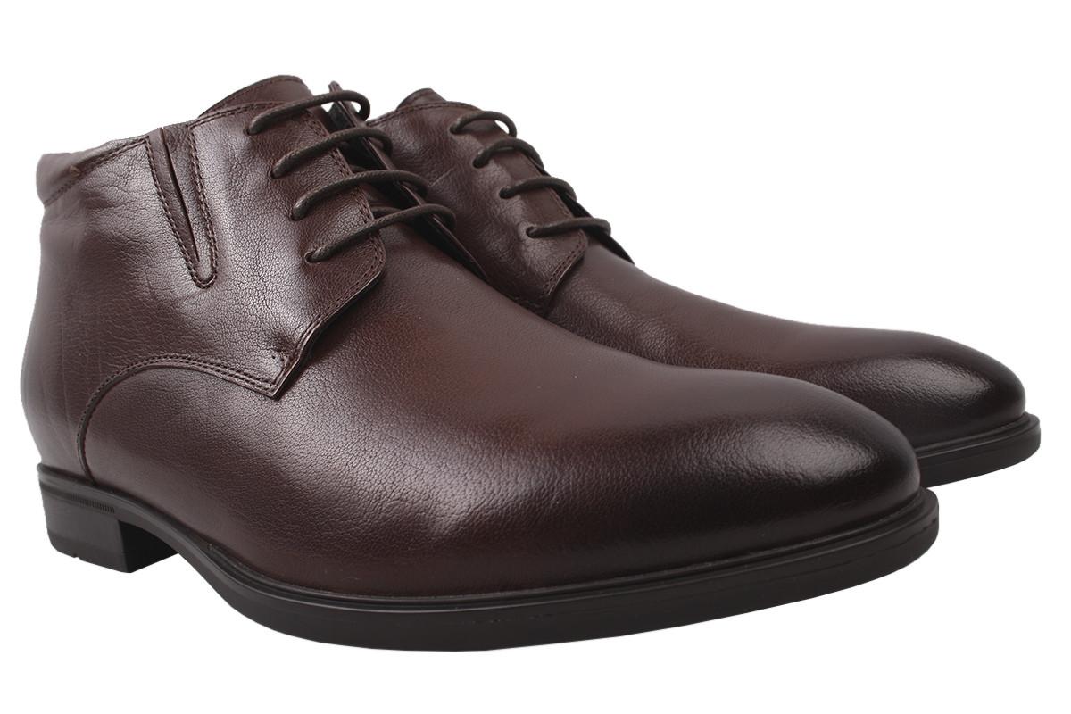 Ботинки мужские Salenor зимние натуральная кожа, цвет коричневый, размер 40-44