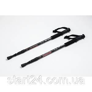 Трекинговые палки регулируемые EVERLASTest black