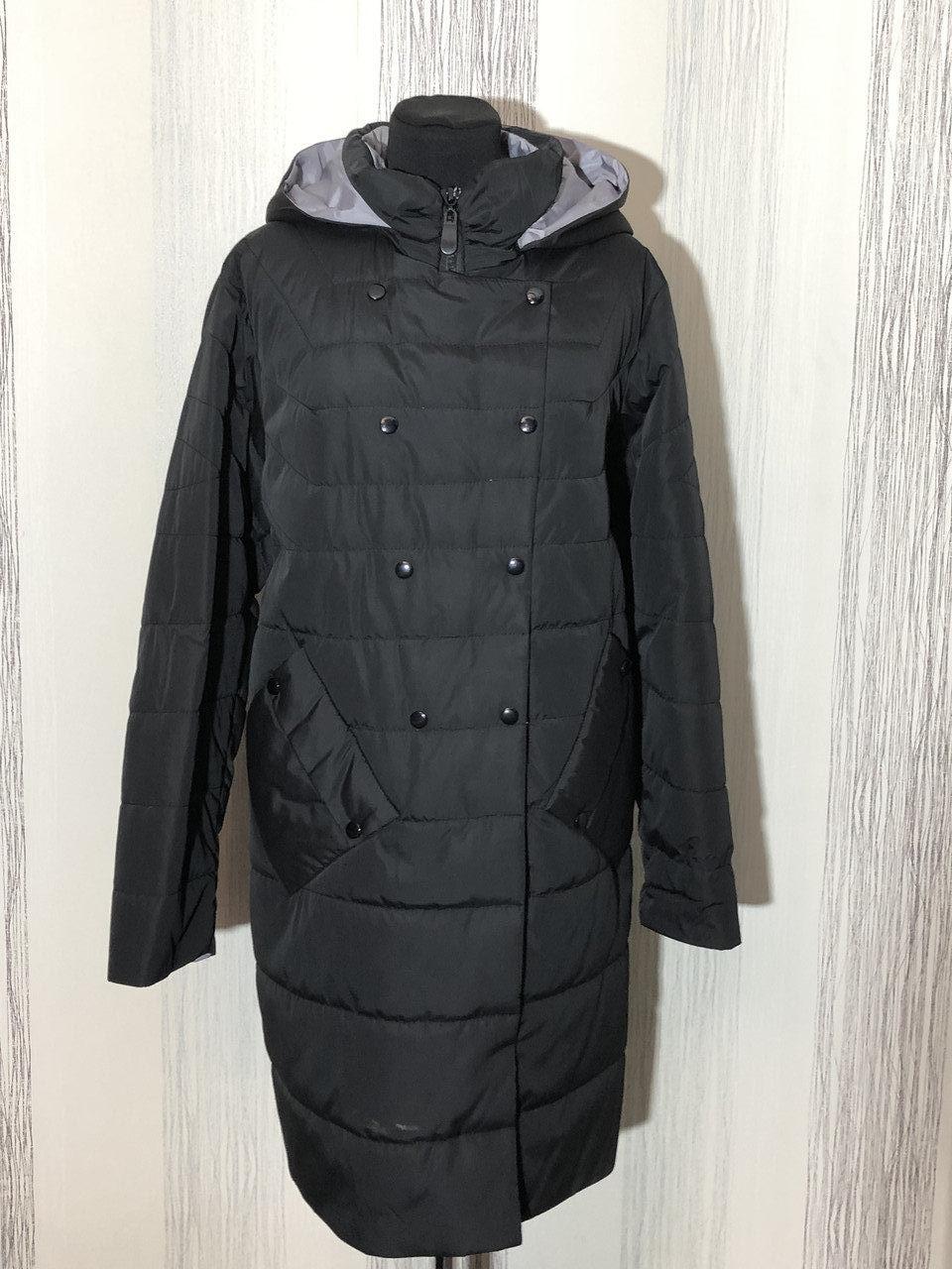 Женская демисезонная удлиненная куртка, размеры 46-54