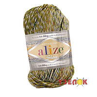 Alize Show Punto Batik Design №6368 зелено-бежевый переход