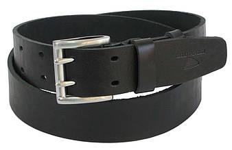 Мужской кожаный ремень под джинсы Skipper 1162-45 черный 4,5 см